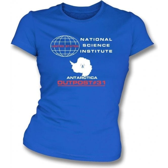 U.S. Outpost #31 (Inspired by The Thing) Womens Slim Fit T-Shirt