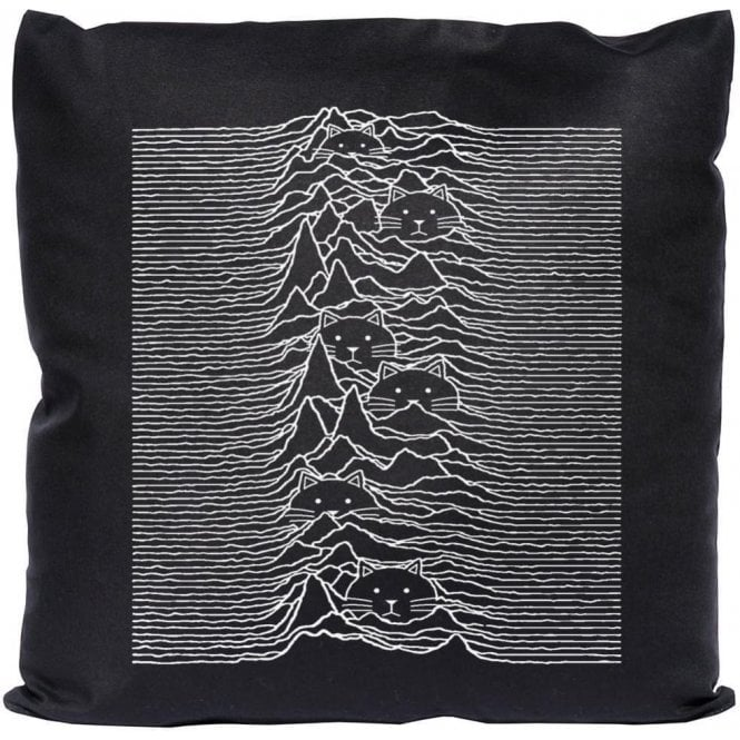 Unknown Pleasures Cat Cushion