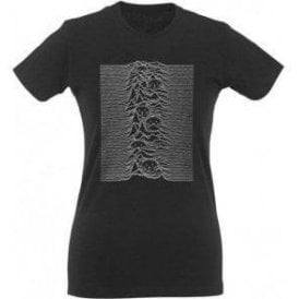 Unknown Pleasures Cat Womens Slim Fit T-Shirt