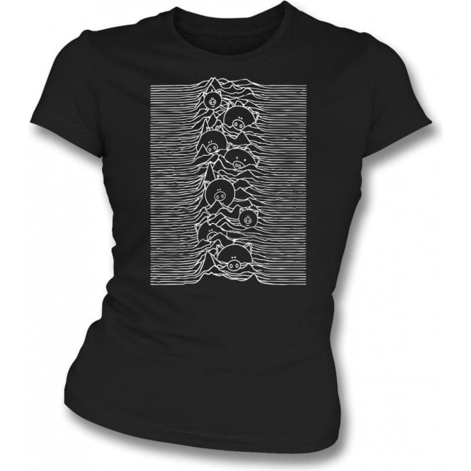 Unknown Pleasures Pigs Womens Slim Fit T-Shirt