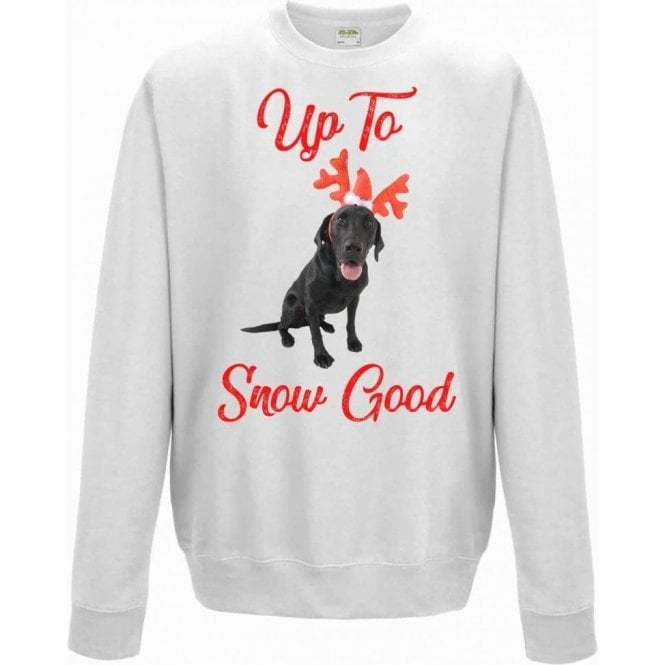Up To Snow Good (Black Labrador) Christmas Jumper
