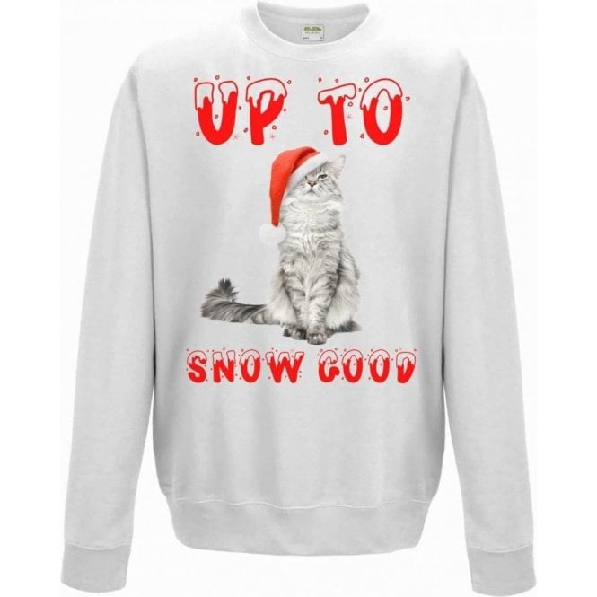 Up To Snow Good (Cat) Kids Sweatshirt