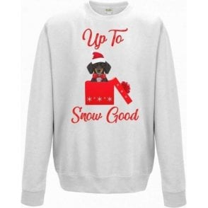 Up To Snow Good (Dachshund) Christmas Jumper