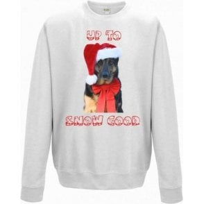 Up To Snow Good (German Shepherd) Kids Sweatshirt