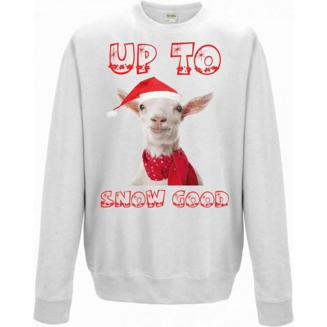 Up To Snow Good (Goat) Christmas Jumper