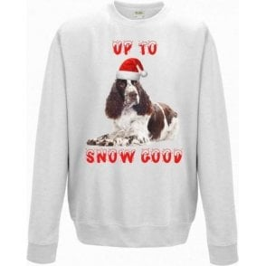 Up To Snow Good (Springer Spaniel) Kids Sweatshirt
