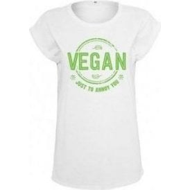 Vegan Just To Annoy You Womens Extended Shoulder T-Shirt