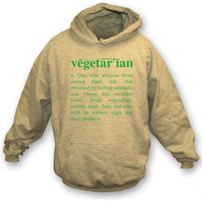 Vegetarian Definition-Natural Hooded Sweatshirt
