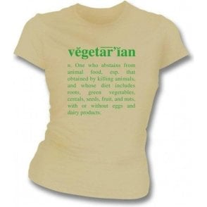 Vegetarian Definition-Natural Organic Girl's Slim-Fit