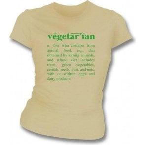 Vegetarian Definition-Natural Organic Girl's Slim-Fit