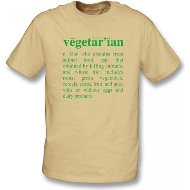 Vegetarian Definition-Natural Organic T-shirt