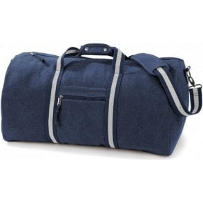 Vintage Canvas Holdall Bag