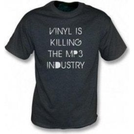 Vinyl is killing the MP3 Industry Vintage Wash T-shirt