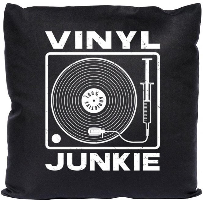 Vinyl Junkie Cushion
