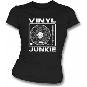 Vinyl Junkie Girl's Slim-Fit T-shirt