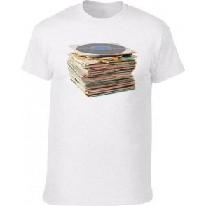 Vinyl Records Vintage Wash T-Shirt