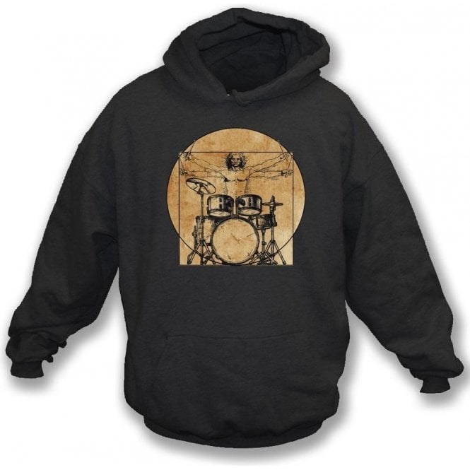 Vitruvian Drummer Hooded Sweatshirt