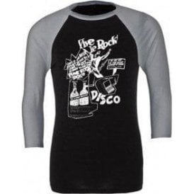 Vive Le Rock 3/4 Sleeve Unisex Baseball Top