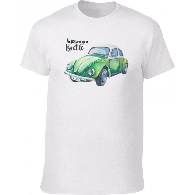 Volkswagen Beetle (Green Car) Vintage Wash T-Shirt