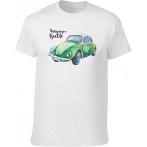 Volkswagen Beetle (Green Car) Vintage Wash T-Shirt