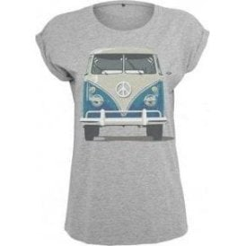 VW Camper Full Colour Women's Extended Shoulder T-Shirt