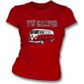 VW Camper Girl's Slim-Fit T-shirt