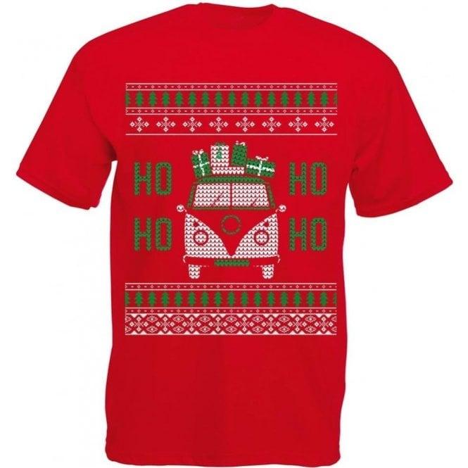 VW Camper Ho Ho Ho Kids T-Shirt