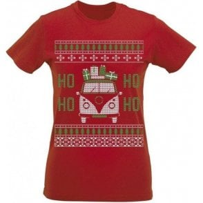 VW Camper Ho Ho Ho Womens Slim Fit T-Shirt