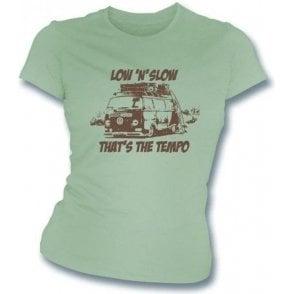 VW Camper Van Low 'N' Slow Womens Slimfit T-shirt