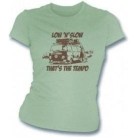VW Camper Van Low 'N' Slow Womens Slimfit T-shirt