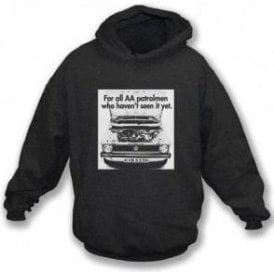 VW Golf AA Patrolman Advert Hooded Sweatshirt