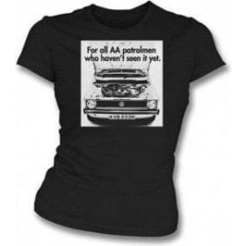 VW Golf AA Patrolman Advert Womens Slim Fit T-Shirt