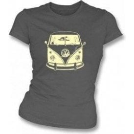 VW Split Screen Campervan Womens Slimfit T-shirt