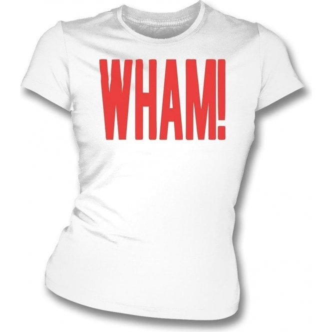 Wham! (As Worn By George Michael & Andrew Ridgeley, Wham!) Womens Slim Fit T-Shirt
