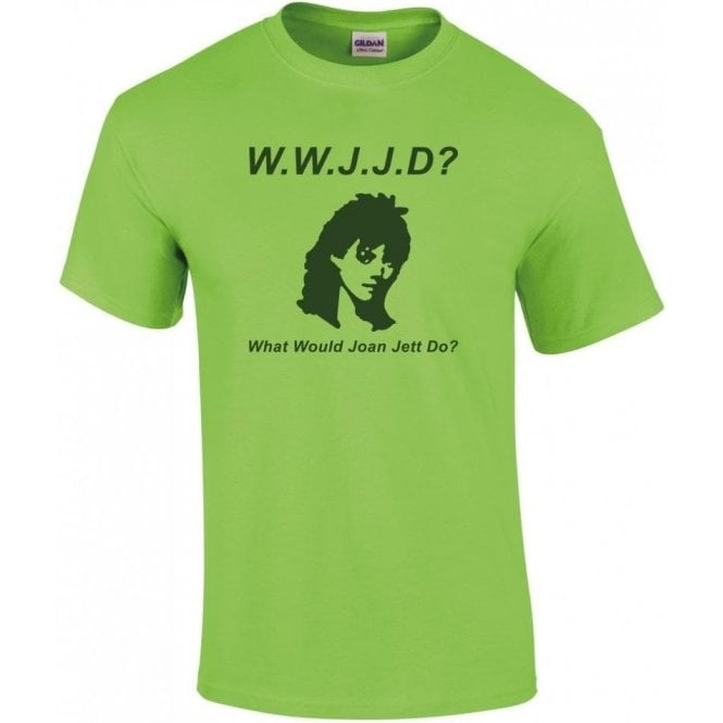 What Would Joan Jett Do? (As Worn By Kathleen Hanna, Bikini Kill) T-Shirt