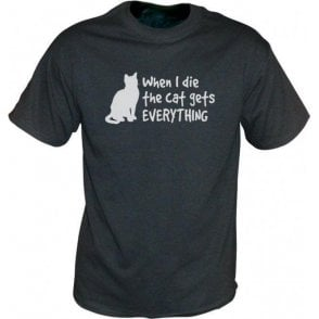 When I Die The Cat Gets Everything Vintage Wash T-Shirt