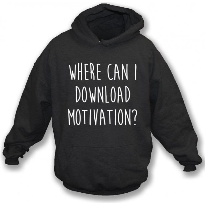 Where Can I Download Motivation? Kids Hooded Sweatshirt