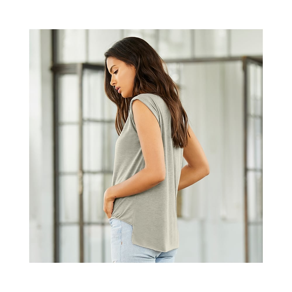 d44efa9aa7098 Women s Flowy Muscle T-Shirt With Rolled Cuff - from TShirtGrill UK