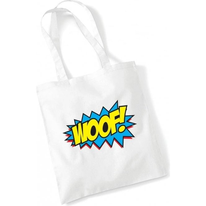 Woof Comic Bubble Long Handled Tote Bag