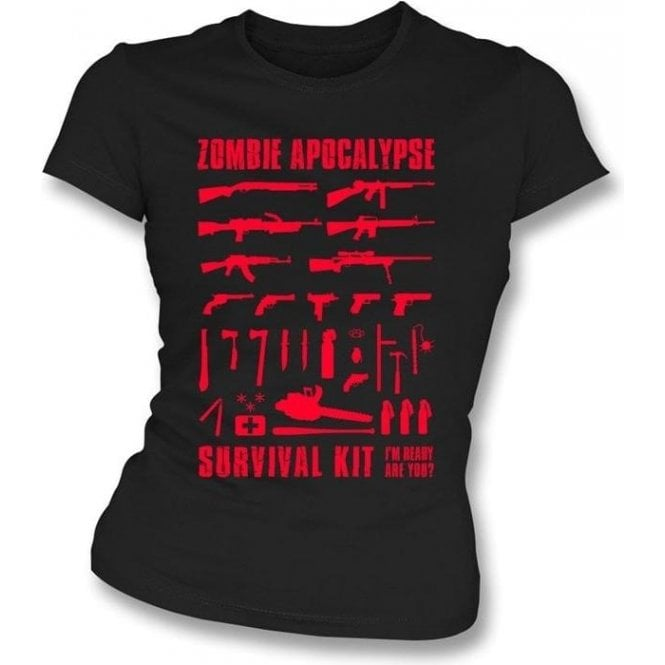 Zombie Apocalypse Survival Kit Girl's Slim-Fit T-shirt