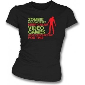 Zombie Apocalypse Womens Slim Fit T-Shirt